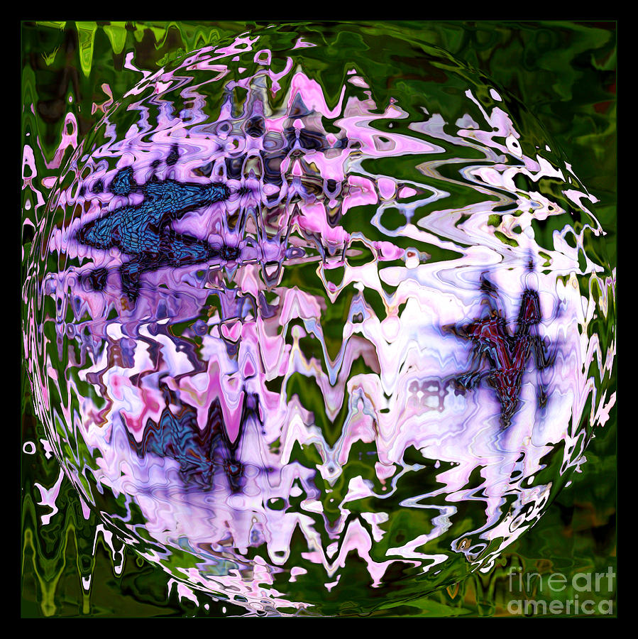 Abstract Photograph - Purple Daisies World - Abstract Art by Carol Groenen