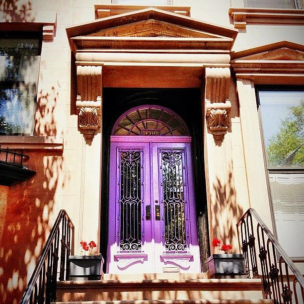 New York City Photograph - Purple Door - Brooklyn - New York City by Vivienne Gucwa