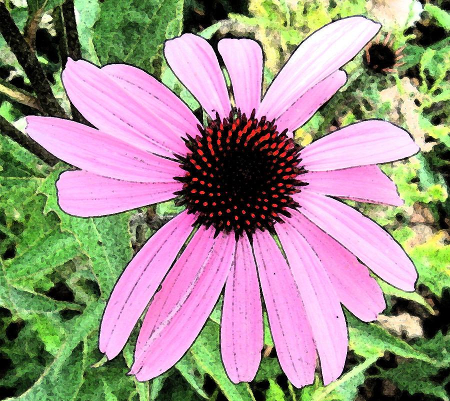 Abstract Digital Art - Purple Flower by Bill Kennedy