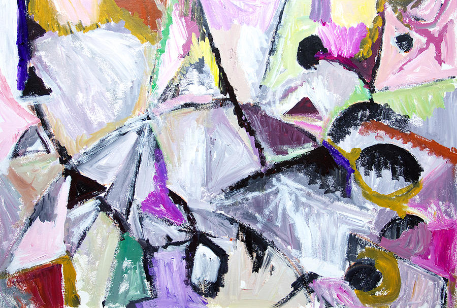 Abstract Landscape Painting - Purple Habitat Of Native Wildcats by Kazuya Akimoto