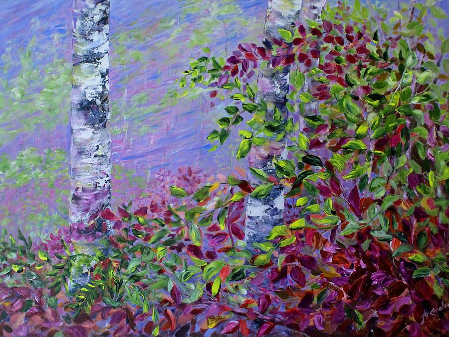 Autumn Painting - Purple Haze by Joanne Smoley