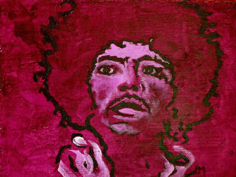 Jimi Hendrix Painting - Purple Haze by Pete Maier