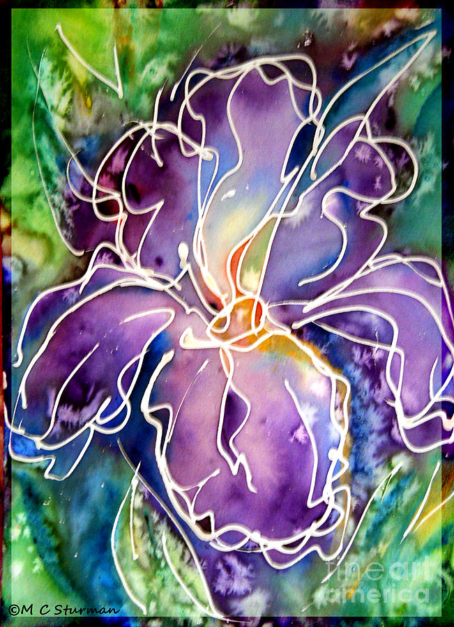 Iris Mixed Media - Purple Iris by M c Sturman