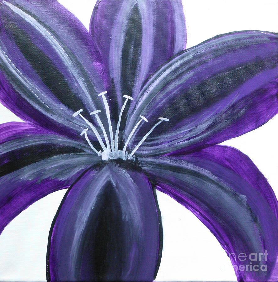 Purple lily painting by dawn plyler purple painting purple lily by dawn plyler izmirmasajfo