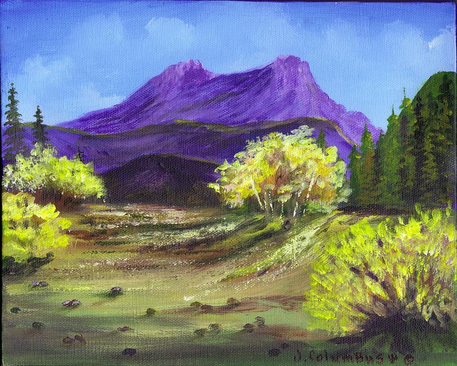 Purple Mountains Painting - Purple Mountain Beauty by Janna Columbus