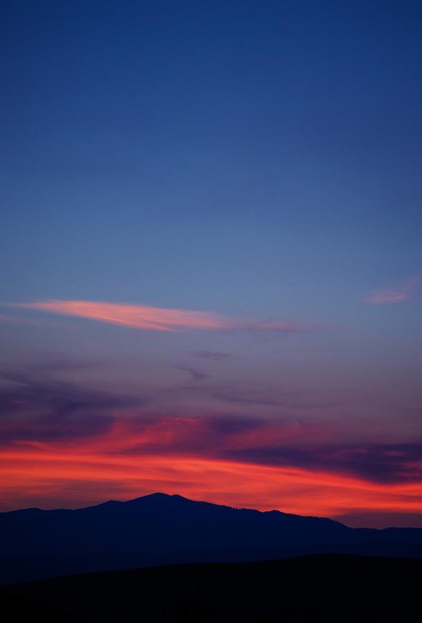 Sunset Photograph - Purple Mountain by Kevin Bone