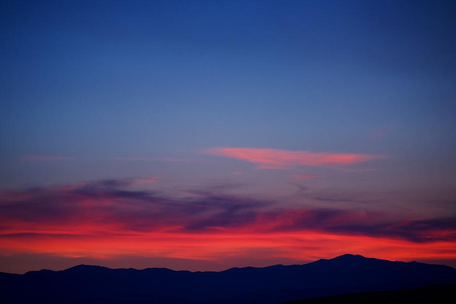 Sunset Photograph - Purple Mountains by Kevin Bone