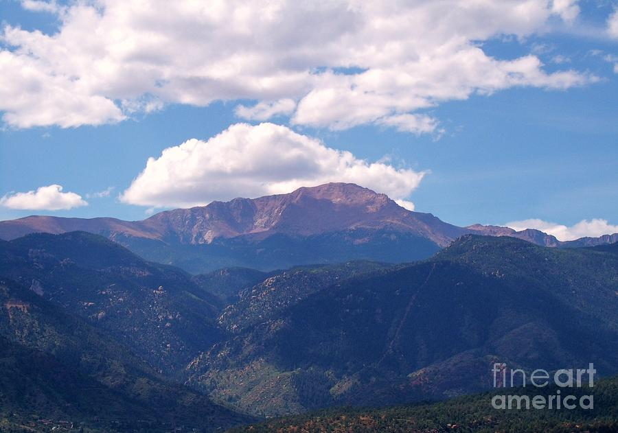 Pikes Peak Photograph - Purple Mountains Majesty by Donna Parlow