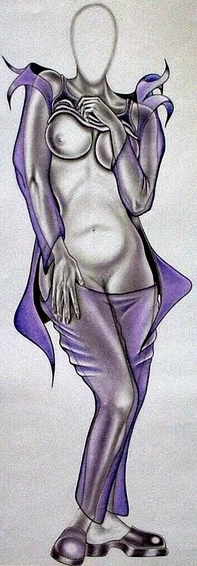 Portraits Drawing - Purple Passion by Rick Hill