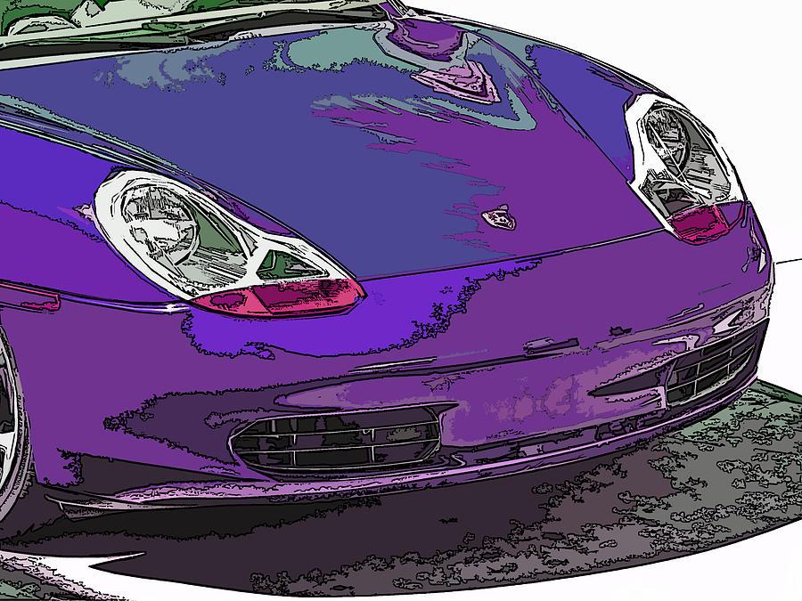 Porsche Photograph - Purple Porsche Nose 2 by Samuel Sheats