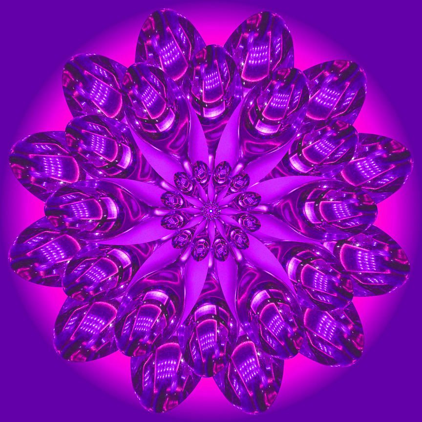 Purple Spoonz Digital Art by Linda Pope