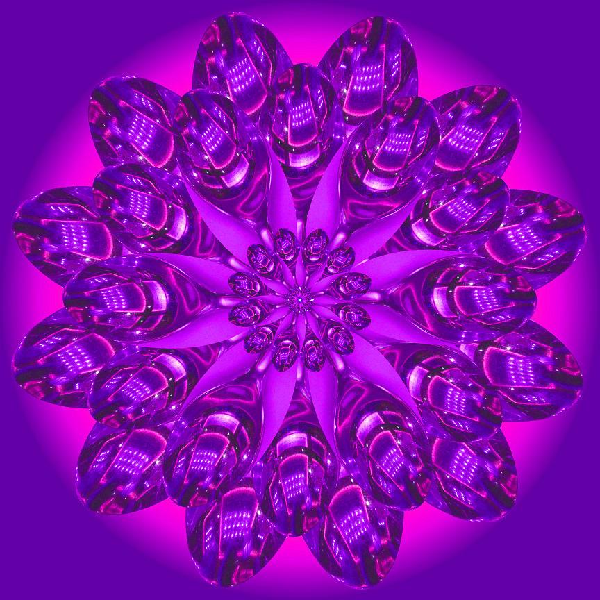 Digital Art - Purple Spoonz by Linda Pope