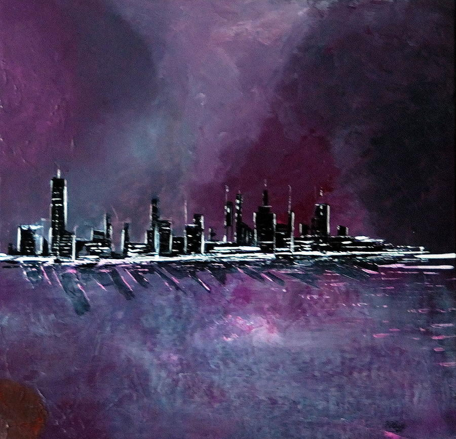Purple Painting - Purple Storm by Rob Heath