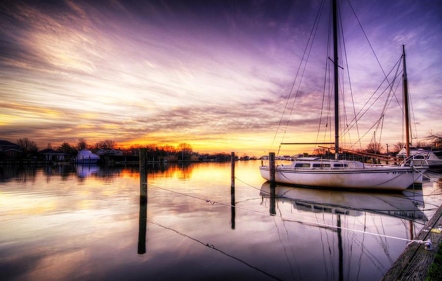 Sunrise Photograph - Purple Sunrise by Vicki Jauron
