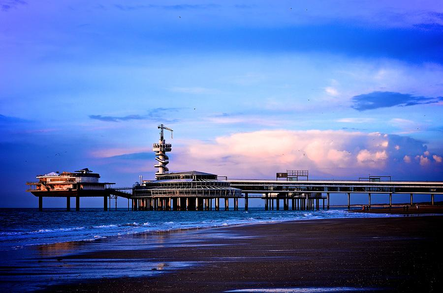 Sunset Photograph - Purple Sunset Pier by Catherine Murton