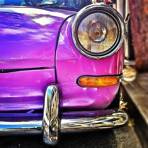 Vw Photograph - Purple VW Bug by Julie Gebhardt