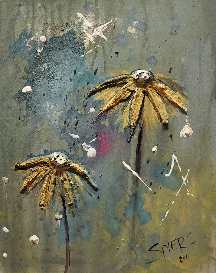 Daisy Painting - Pushin Up Daisies by Amanda  Sanford