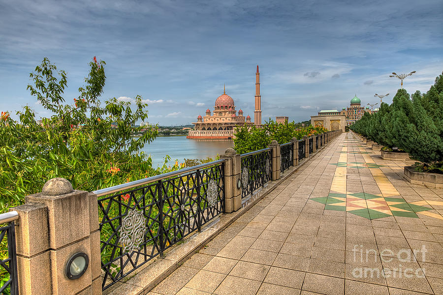 Mosque Photograph - Putrajaya Lake by Adrian Evans