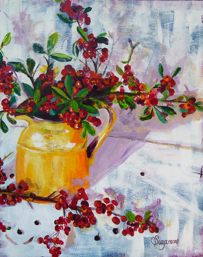 Berries Painting - Pyracatha Pitcher Picture by Suzanne Willis