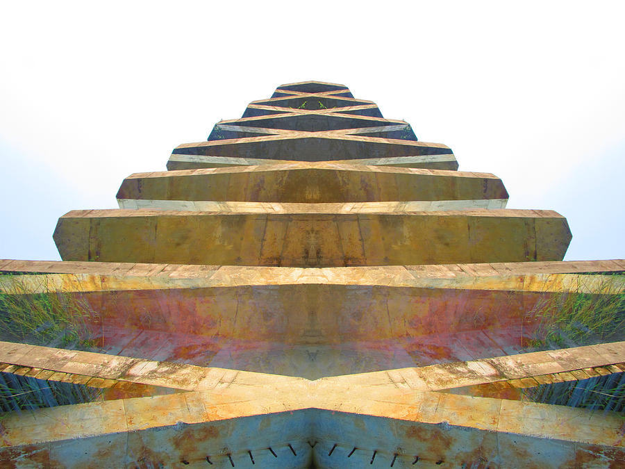 Color Blends Photograph - Pyramid by Michele Caporaso
