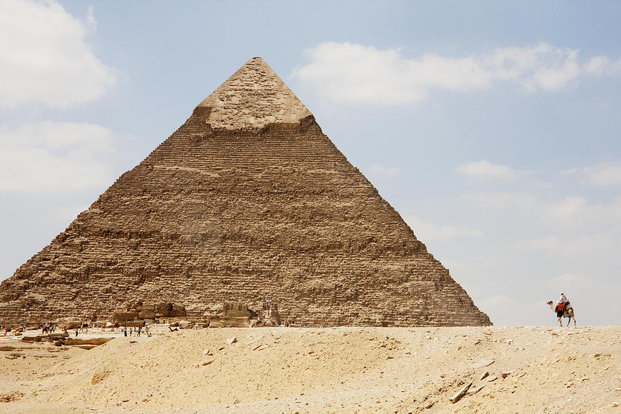 Egypt Photograph - Pyramid Of Khafre Chephren, Giza, Al by Peter Langer