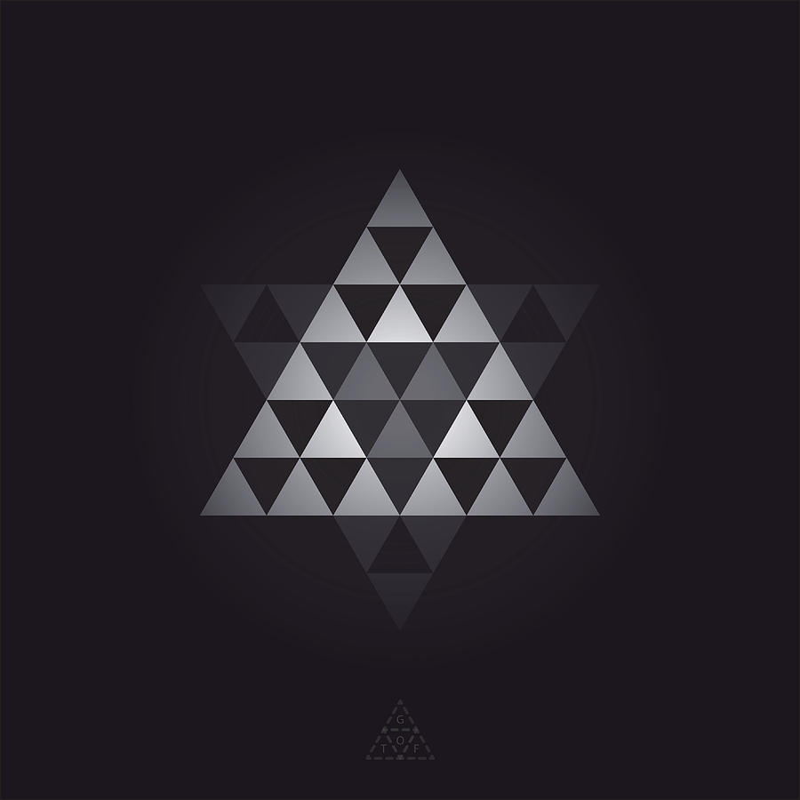 Hexagon Digital Art - Pyramid Star Optic V24.1 by Guardians of the Future