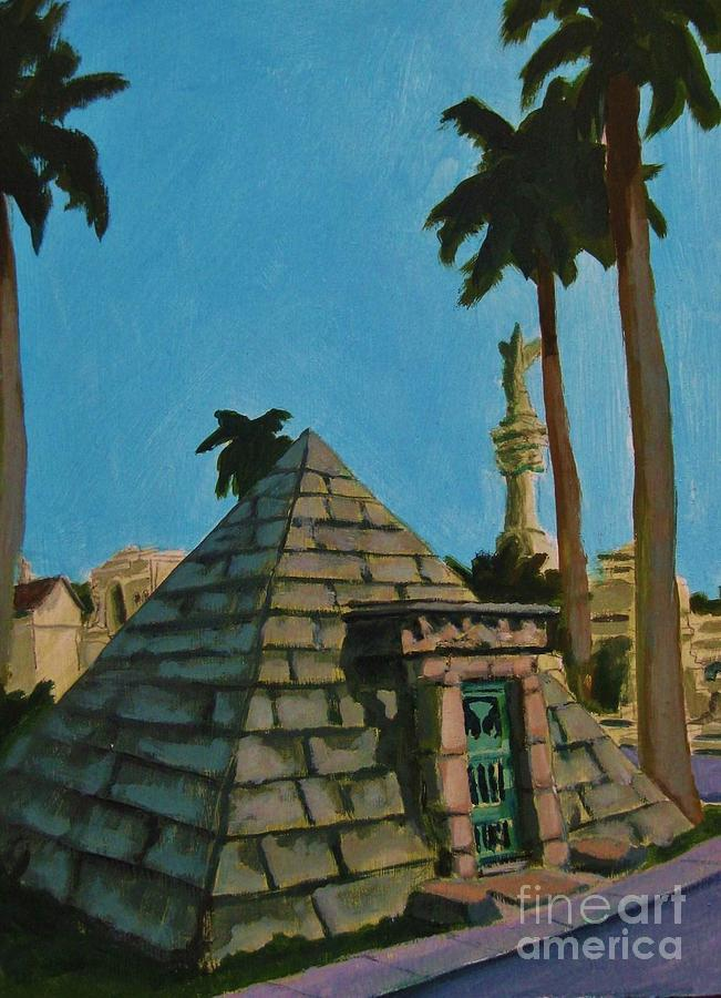 Pyramid Painting - Pyramid Tomb In Cemetary by John Malone