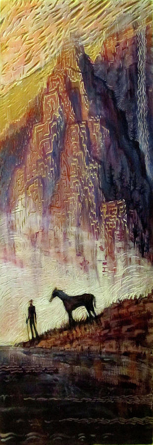 Man Painting - Pyrenees Dream by Michael Langenheim