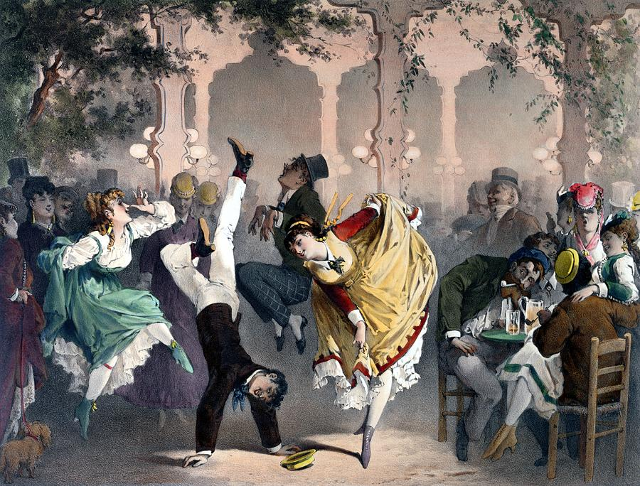 Garden Painting - Quadrille At The Bal Bullier by G Barry