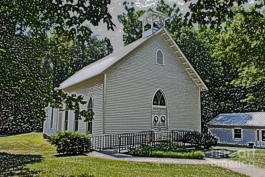 Scott Photograph - Quaker Church Pencil by Scott Hervieux