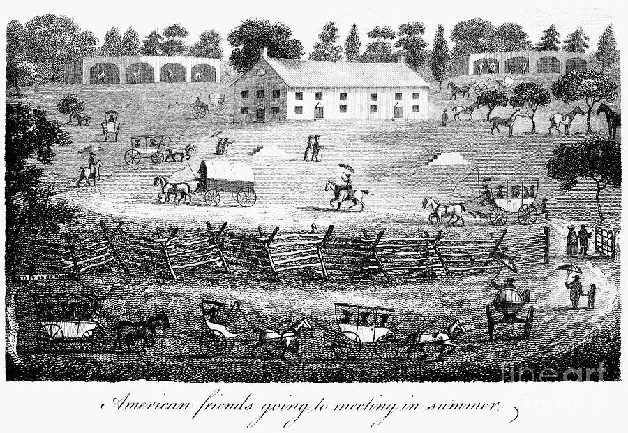 1811 Photograph - Quaker Meeting, 1811 by Granger