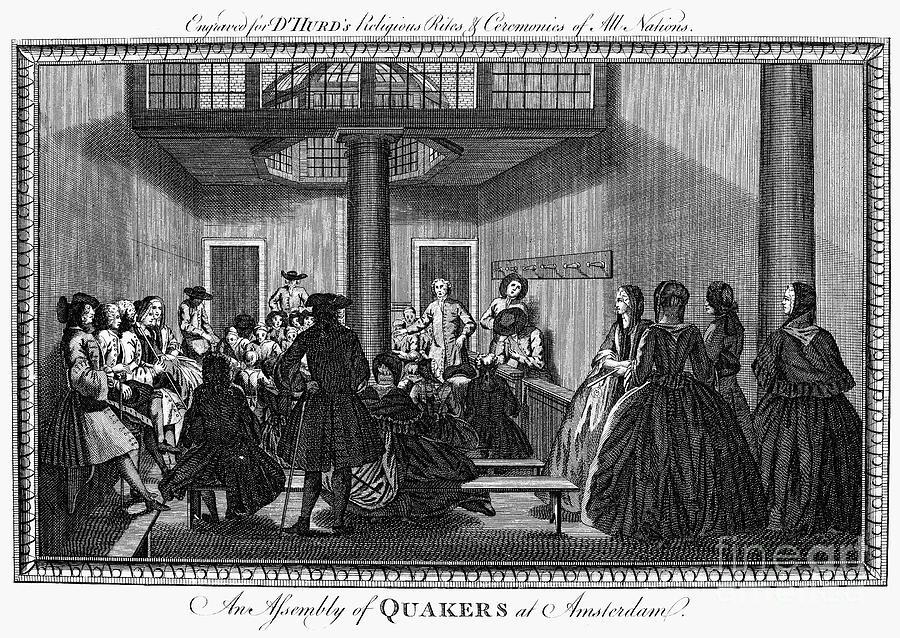 1790 Photograph - Quaker Meeting, C1790 by Granger