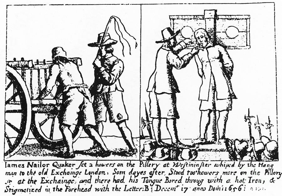 1656 Photograph - Quaker Persecution by Granger