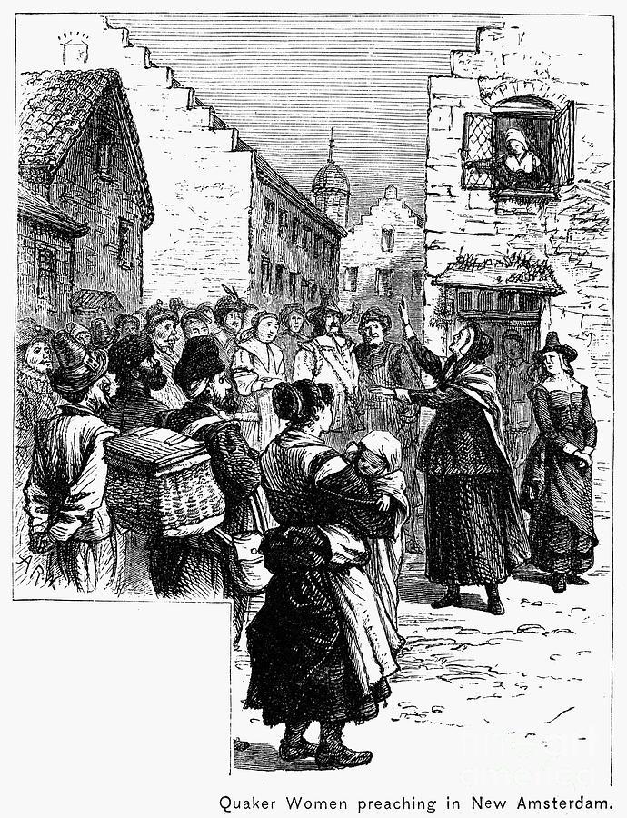 American Photograph - Quaker Preaching, 1657 by Granger