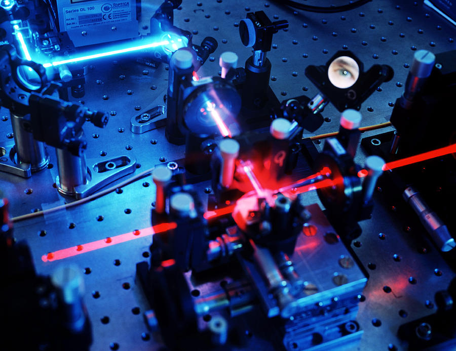 Physics Photograph - Quantum Cryptography Equipment by Volker Steger