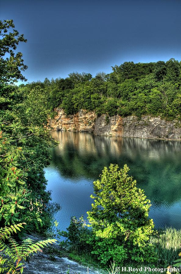 Reflective Photograph - Quarry Of Reflections 2 by Heather  Boyd