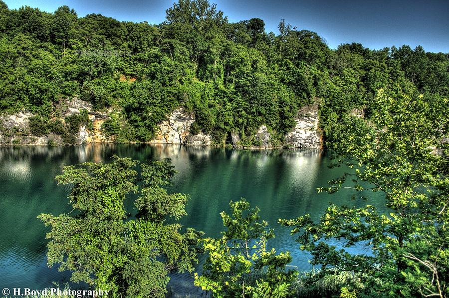 Reflective Photograph - Quarry Of Reflections by Heather  Boyd