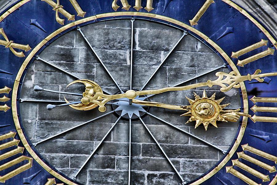 Clock Photograph - Quarter Past by Lauri Novak