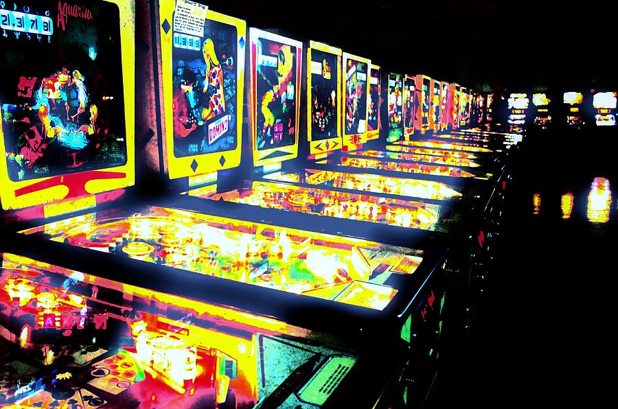 Pinball Photograph - Quarters Needed by Benjamin Yeager