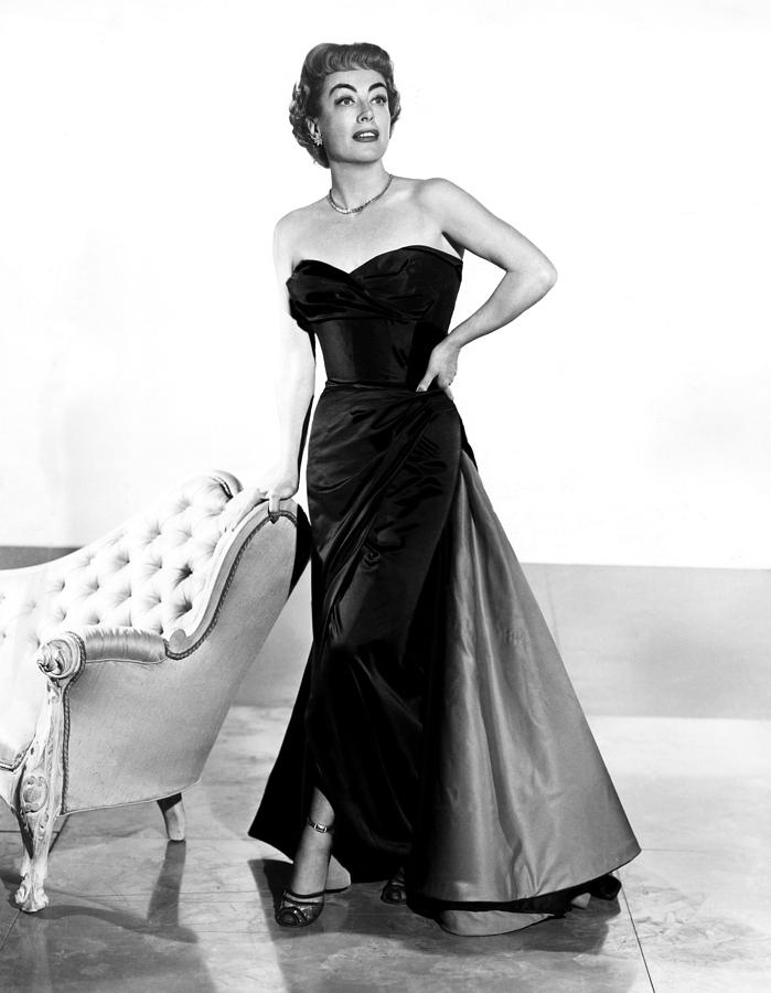 1950s Fashion Photograph - Queen Bee, Joan Crawford, In A Gown by Everett