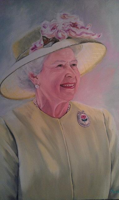 Portrait Painting - Queen by Marina Van Rensburg