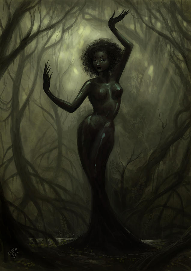 Fantasy Painting - Queen Of Mud by Caroline Jamhour