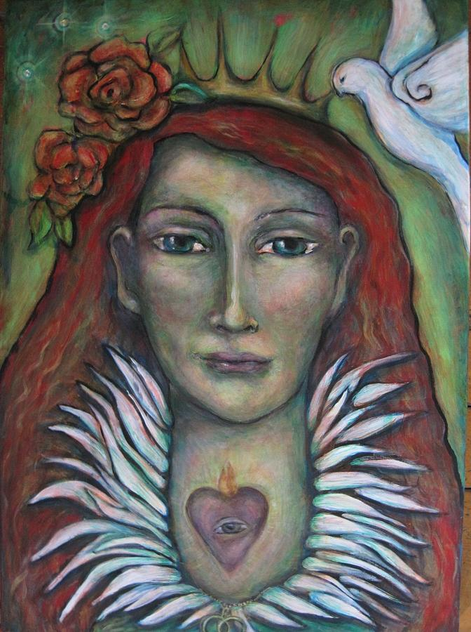 Contemporary Symbolism Painting - Queen Of My Own Heart by Shoshanna Lightsmith