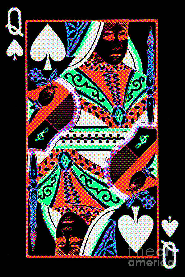 Card Photograph - Queen Of Spades by Wingsdomain Art and Photography