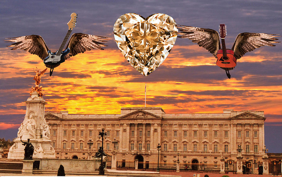 Landing In London Digital Art - Queen Rocks by Eric Kempson