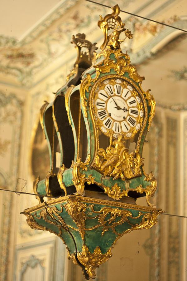 Versailles Photograph - Queens Clock by Georgia Fowler