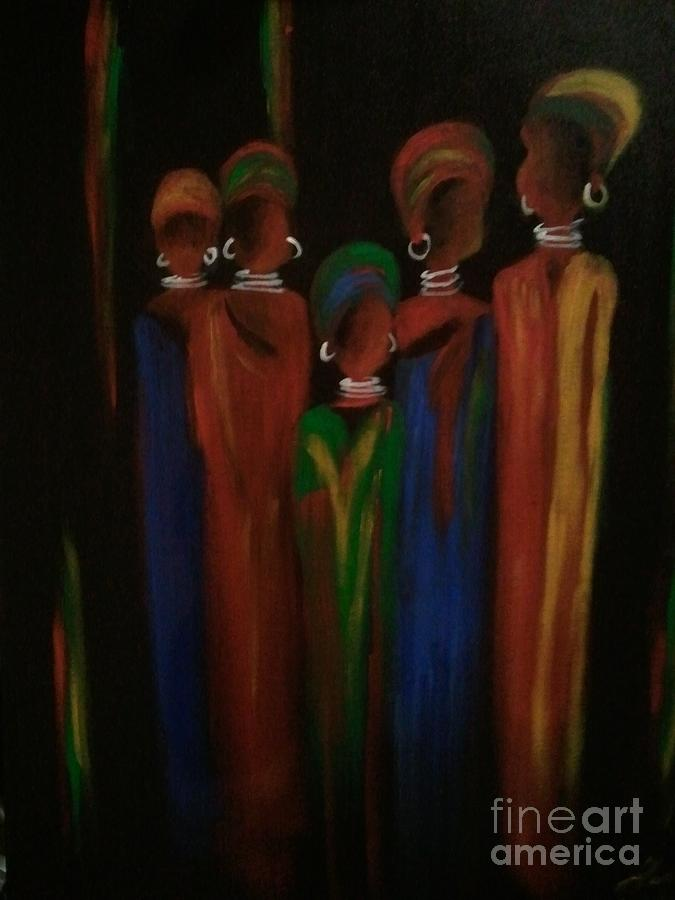 African Queens Painting - Queens by Lea Kirby