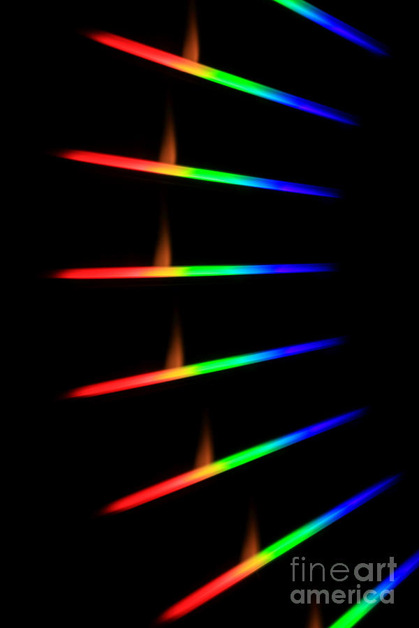 Science Photograph - Quicklime Spectra Limelight by Ted Kinsman