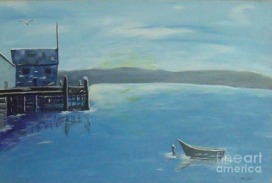 Seascape Painting - Quiet Place by Debra Piro
