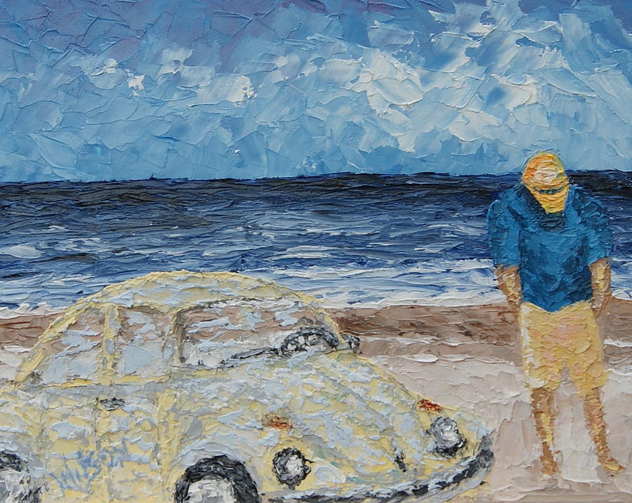 Beach Painting - Quiet Thoughts by Chrys Wilson